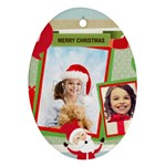 xmas - Oval Ornament (Two Sides)
