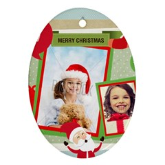 Xmas By Xmas4   Oval Ornament (two Sides)   Kifm321tfw8v   Www Artscow Com Back