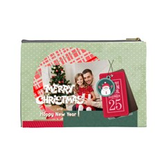 Xmas By Xmas4   Cosmetic Bag (large)   Yn35o4t0ohna   Www Artscow Com Back