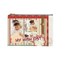 Xmas By Xmas4   Cosmetic Bag (large)   36r1ears6789   Www Artscow Com Front