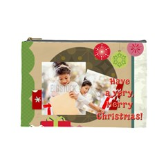 Xmas By Xmas4   Cosmetic Bag (large)   84ul3k7vgd1l   Www Artscow Com Front
