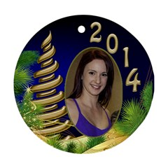 Billy Joe Christmas Round Ornament 1 (2 Sided) By Deborah   Round Ornament (two Sides)   Fd6s5y3c3o6l   Www Artscow Com Front