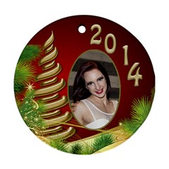 Billy Joe Christmas Round Ornament 1 (2 Sided) By Deborah   Round Ornament (two Sides)   Fd6s5y3c3o6l   Www Artscow Com Back