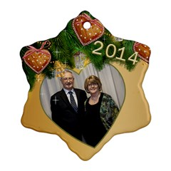 Zed 2014 Snowflake Ornament (2 Sided) By Deborah   Snowflake Ornament (two Sides)   Cedf8fljsvc2   Www Artscow Com Front