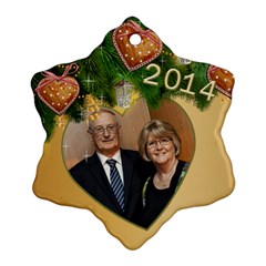 Zed 2014 Snowflake Ornament (2 Sided) By Deborah   Snowflake Ornament (two Sides)   Cedf8fljsvc2   Www Artscow Com Back