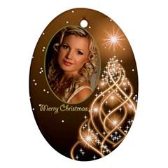 Mary Lou Christmas Oval Ornament 6 (2 Sided) By Deborah   Oval Ornament (two Sides)   62w1h1aw2bl8   Www Artscow Com Front
