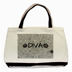Sassy Diva  Twin-sided Black Tote Bag by OCDesignss