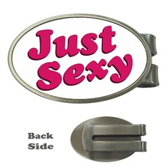 Just Sexy Typographic Quote002 Money Clip (oval) by dflcprints