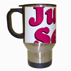 Just Sexy Typographic Quote002 Travel Mug (white) by dflcprints