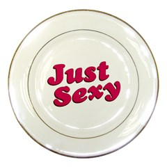 Just Sexy Typographic Quote002 Porcelain Display Plate by dflcprints