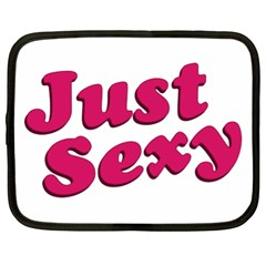 Just Sexy Typographic Quote002 Netbook Sleeve (xl) by dflcprints