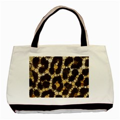 Cheetah Abstract  Twin Sided Black Tote Bag