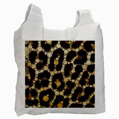 Cheetah Abstract  White Reusable Bag (one Side) by OCDesignss