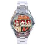 xmas - Stainless Steel Analogue Watch
