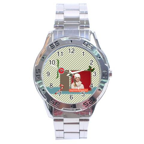 Xmas By Xmas   Stainless Steel Analogue Watch   3n013qs0gao9   Www Artscow Com Front