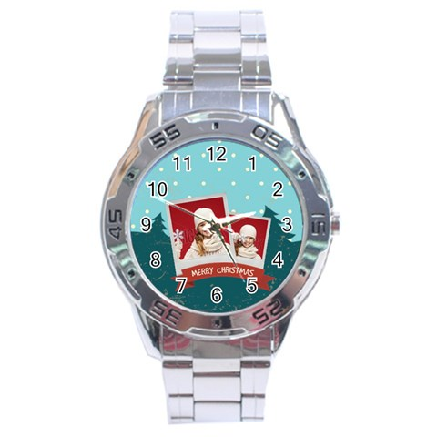 Xmas By Xmas   Stainless Steel Analogue Watch   Zwx94la962k1   Www Artscow Com Front