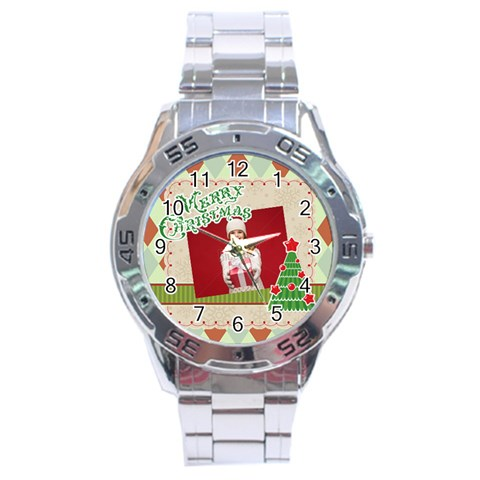 Xmas By Xmas   Stainless Steel Analogue Watch   Dbfebnh8plq0   Www Artscow Com Front
