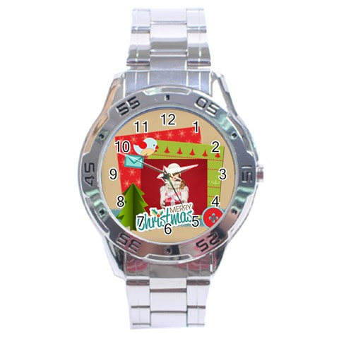 Xmas By Xmas   Stainless Steel Analogue Watch   R4nc3qt4eci6   Www Artscow Com Front