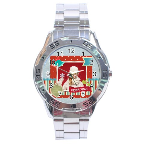 Xmas By Xmas   Stainless Steel Analogue Watch   03jx4e8973rs   Www Artscow Com Front