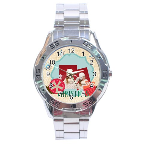 Xmas By Xmas   Stainless Steel Analogue Watch   Eg7x8rtnarpb   Www Artscow Com Front