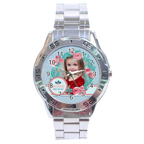 Xmas By Xmas   Stainless Steel Analogue Watch   Dokiq9cc880i   Www Artscow Com Front
