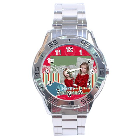 Xmas By Xmas   Stainless Steel Analogue Watch   Nqejysf4pcwi   Www Artscow Com Front