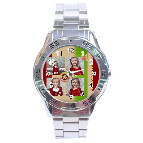 Xmas By Xmas   Stainless Steel Analogue Watch   93k3v00ng3wu   Www Artscow Com Front