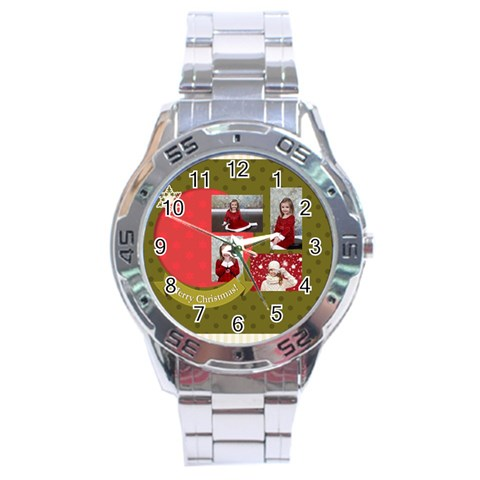 Xmas By Xmas   Stainless Steel Analogue Watch   8ch68n51z4qm   Www Artscow Com Front