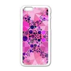 Pink Bling  Apple Iphone 6 White Enamel Case by OCDesignss