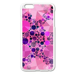Pink Bling  Apple Iphone 6 Plus Enamel White Case by OCDesignss