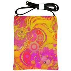 Super Bright Abstract Shoulder Sling Bag by OCDesignss