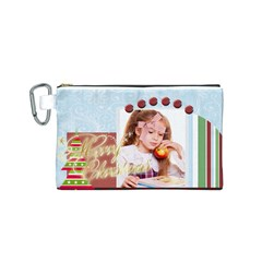 Xmas By Joely   Canvas Cosmetic Bag (small)   Iztsr8zs90lk   Www Artscow Com Front