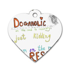 D0gaholic Dog Tag Heart (Two Sided) by Contest1918526