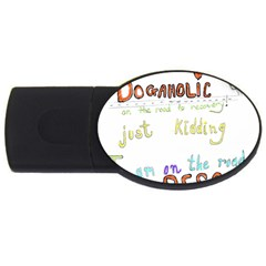 D0gaholic 4gb Usb Flash Drive (oval)