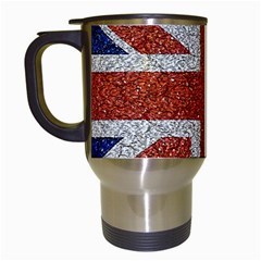 England Flag Grunge Style Print Travel Mug (white) by dflcprints
