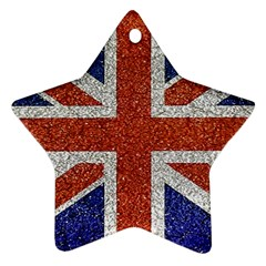 England Flag Grunge Style Print Star Ornament (two Sides) by dflcprints