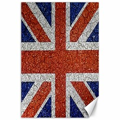England Flag Grunge Style Print Canvas 24  x 36  (Unframed) by dflcprints