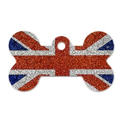 England Flag Grunge Style Print Dog Tag Bone (two Sided) by dflcprints