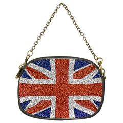 England Flag Grunge Style Print Chain Purse (two Sided)  by dflcprints