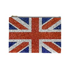 England Flag Grunge Style Print Cosmetic Bag (large) by dflcprints