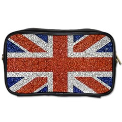 England Flag Grunge Style Print Travel Toiletry Bag (two Sides) by dflcprints