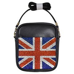 England Flag Grunge Style Print Girl s Sling Bag by dflcprints