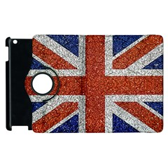 England Flag Grunge Style Print Apple Ipad 3/4 Flip 360 Case by dflcprints