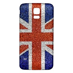 England Flag Grunge Style Print Samsung Galaxy S5 Back Case (White) by dflcprints