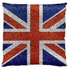 England Flag Grunge Style Print Large Flano Cushion Case (two Sides) by dflcprints