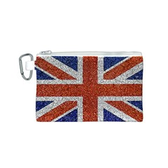 England Flag Grunge Style Print Canvas Cosmetic Bag (small) by dflcprints
