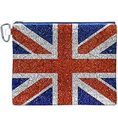 England Flag Grunge Style Print Canvas Cosmetic Bag (XXXL) by dflcprints