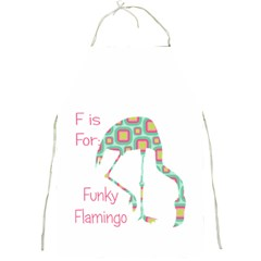 F Is For Funky Flamingo Apron by CrypticFragmentsColors
