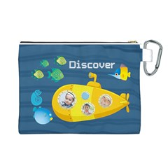 Kids By Kids   Canvas Cosmetic Bag (large)   W1b2vez7t2ml   Www Artscow Com Back