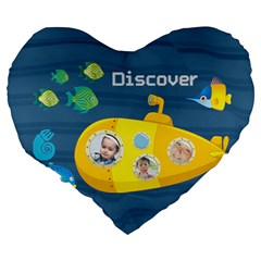 Kids By Kids   Large 19  Premium Flano Heart Shape Cushion   Vn0jfs10if25   Www Artscow Com Back